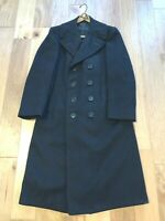 WWII ? era USN US Navy BLACK wool Bridge Pea Overcoat Coat KENNEDYS 37 Regular