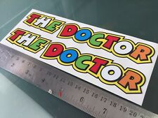 THE DOCTOR Rossi Letters Text Decals Stickers (X2) (20CM X 3CM)