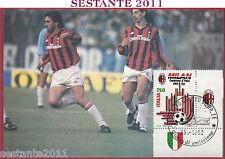 ITALIA MAXIMUM MAXI CARD ROMA 855 MILAN CAMPIONE D'ITALIA 1992 ANN. TORINO C572