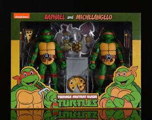 NECA TMNT Cartoon 2-packs Raphael and Michelangelo action figures
