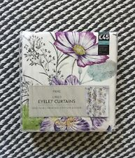 NEXT Illustrative Fusion Floral Eyelet Curtains 135x137cm RRP £45 NEW ~Stunning~