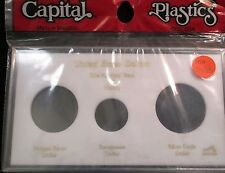 "Capital Plastics: 4""x 7"" U.S. Dollars 100 Years Coin Display W/Free Shp."