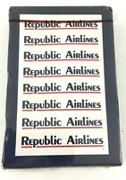 Republic Airlines Playing Cards. Wrapped Deck. Blue. Last Logo. Circa 1985.