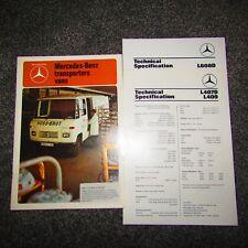 Mercedes-Benz L407D L409 L608D Transporters Vans UK Market Sales Brochure 1977