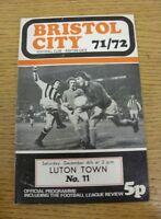 04/12/1971 Bristol City v Luton Town  (Folded)