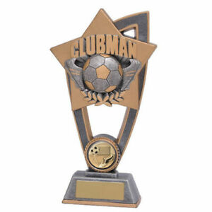 Football-Clubman trophy Award in 2 Sizes with FREE Engraving up to 45 Letters