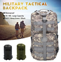 30/40L Outdoor Military Rucksacks Tactical Bag Camping Hiking Trekking