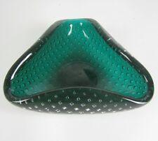 Venini vidrio Ascher/Cenicero Carlo Scarpa Design Glass Ashtray Italy Bubble