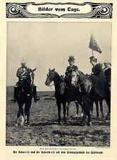 Der deutsche Kaiser & Kaiserin zu Pferde bei Wahlstadt Historische Aufnahme 1906