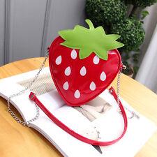 Fashion Women's Cute Fruit Strawberry PU Handbag Mini Shoulder Messenger Bag
