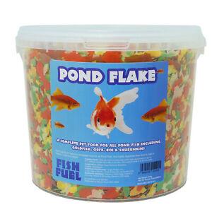 Fish Fuel Pond Flake 5 Litre - Premium Koi & Pond Fish Food - Goldfish, Koi Carp