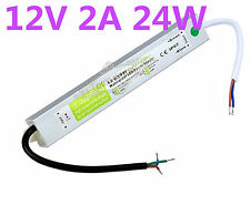 12V 24W Waterproof IP67 LED Driver Transformer Power Adapter Outdoor Light Strip