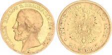Braunschweig 20 Mark Gold 1875 fast ss,  mit Echtheitszertifikat