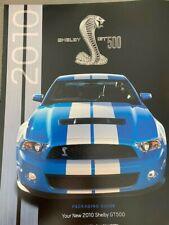 2010 SHELBY GT500 SALES BROSCHURE