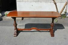 Antique Solid Walnut Trestle Sofa Console Table