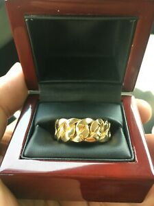 14k Solid Miami Cuban Link 10mm Ring