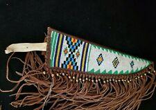 Southwestern Beaded Sheath with J. Russell Green River Deer Jaw Bone Knife