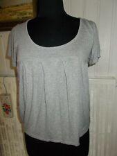 Tunique tee shirt viscose gris froncé PEPE JEANS mod. Elanor T.M 38/40 Brodé