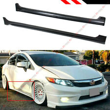 FOR 2012-2015 9TH HONDA CIVIC 4 DOOR SEDAN JDM STYLE SIDE SKIRT EXTENSION PANEL