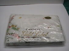 Vintage NOS Cannon Gold Label Full Fitted Bottom Sheet 54 x 76 Flowers