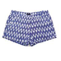 J.CREW Womens Blue White Ikat Shorts C6431 Size 6 (31 X 4)