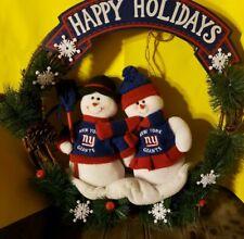 Ny New York Giants Football Christmas Wreath