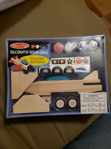 Melissa & Doug - Decorate-Your-Own Wooden Jet Plane Craft Kit