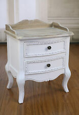 Bedside Chest French Provincial Antique White Bedside Table 2 Drawer BRAND NEW