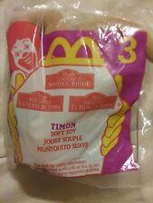 1998 McDonalds Disney Lion King II Timon Soft Toy #3-NIP