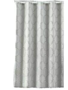 CROSCILL Gwynn Shower Curtain in Silver 72'' W x 72'' L fast free shipping