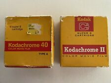 Kodachrome 40 Super 8 Cartridge Color Movie Film Type A & Kodachrome II LOT OF 2