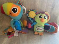 Lamaze Peacock & Toucan Sensory Baby Pram Toys