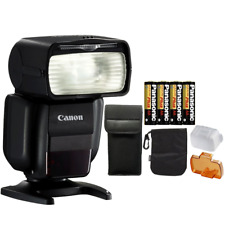 Canon Speedlite 430EX III Flash (Black) + 4 AA Batteries for Canon EO 50D 600D