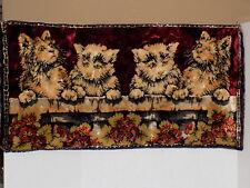 """Vintage Cat Kitten Floral Tapestry Rug 38"""" x 19"""""""