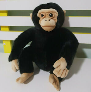 DISNEY WORLDWIDE CONSERVATION MONKEY CHIMPANZEE STUFFED ANIMAL 22CM!