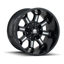 Mayhem Combat 8105 Black and milled 20x9 18mm 5x150 5x139.7 Dodge Ram Tundra