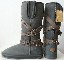 EMU AUSTRALIA MALOO W10139 Charcoal Boots Damen Stiefel Leder Schuhe Gr.42 NEU