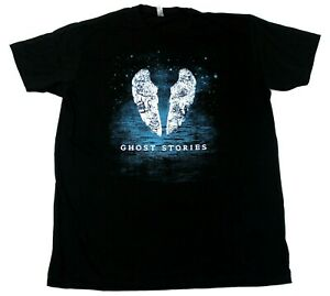 Coldplay American Apparel Ghost Stories Logo Concert Tour T-Shirt - Black - 2XL