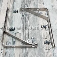Stainless Steel VW beetle mud flap mounts + bolt kit  (blade style bumpers) T1