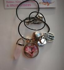 Code 439 I LOVE MY BABY Rose Quartz Gemstone Infused Necklace Archangel Ariel