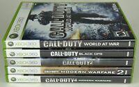 Call of Duty Xbox 360 Lot (Modern Warfare, MW2, MW3, BLOPS) Complete w/ Manuals