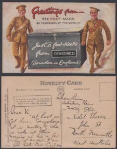 1917-Celesque Novelty Postcard ex Salisbury Plains - contains one view - A Wagon