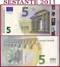 "(com) EUROPEAN UNION - ITALY 5 EURO 2013 Sign DRAGHI  ""SF""  S001D1 - P 20s - UNC"