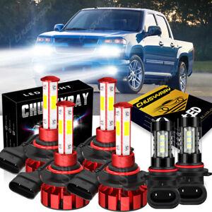 For 2004-2012 GMC Canyon 2009-2012 Chevy Colorado LED Headlight Fog Light Bulbs