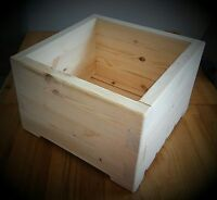 Large Square Wooden Wood Garden Plant Flower Herbs Basket Pot Planters.