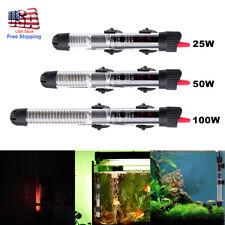 25/50/100W Aquarium Heater Submersible Fish Tank Thermostat w/ Adjust Knob New