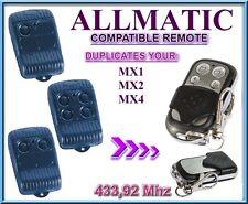 ALLMATIC MX1, MX2, MX4 Compatibile Telecomando, Clone 433,92Mhz