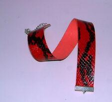 Kunst-Schlangenleder-Choker. Halsband.  rot 22mm