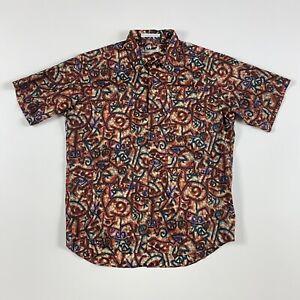 Rare Wilke Rodriguez Short Sleeve Button Down Shirt MediumMen Funky Abstract