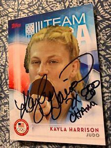 KAYLA HARRISON AUTOGRAPHED JUDO CARD